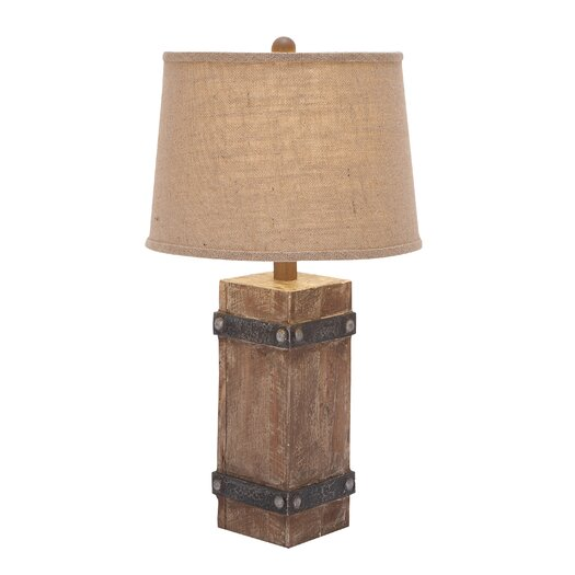 "Woodland Imports Classy 26"" H Table Lamp with Drum Shade"
