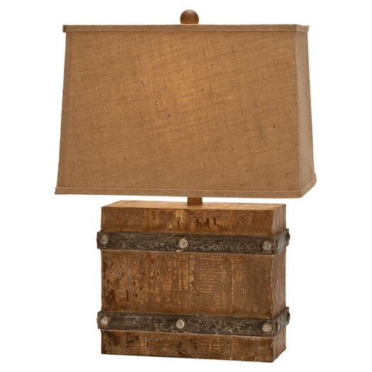 "Woodland Imports Modern Suave 23"" H Table Lamp with Rectangle Shade"