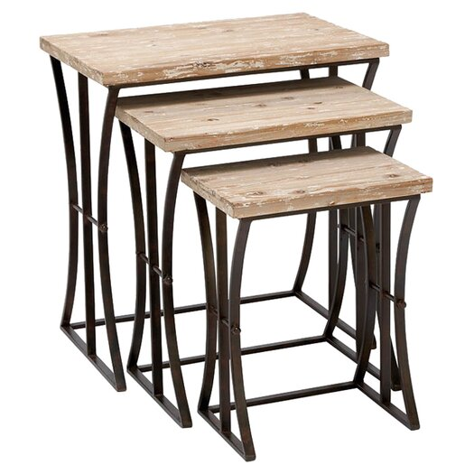 Woodland Imports 3 Piece Nesting Table Set II