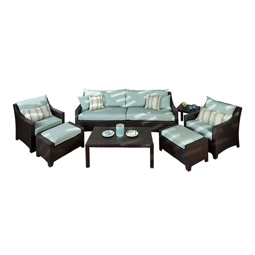 RST Brands Bliss Deco 8 Piece Deep Seating Group with Cushions