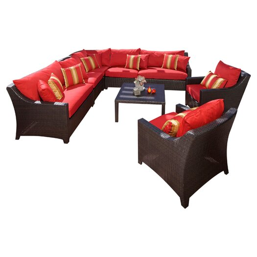 RST Outdoor Cantina 9 Piece Deep Seating Group with Cushions