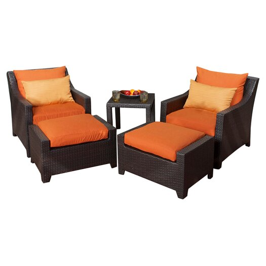 RST Outdoor Tikka 5 Piece Deep Seating Group with Cushions