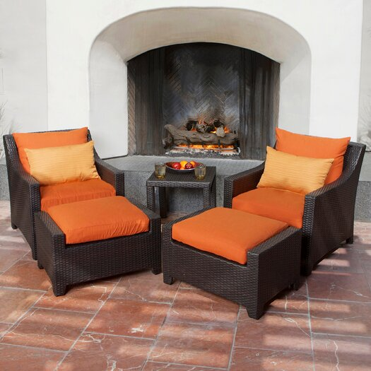 RST Brands Tikka Deco 5 Piece Deep Seating Group with Cushions