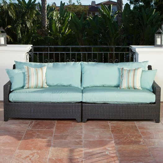 RST Brands Bliss Deco Sofa with Cushion Covers