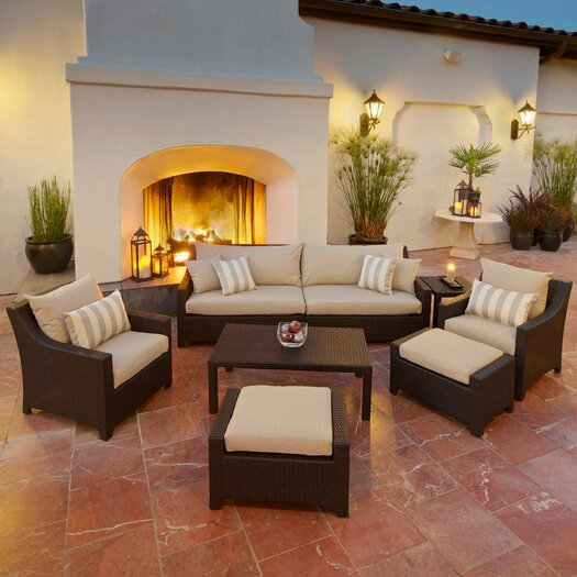 RST Brands Slate Deco 8 Piece Deep Seating Group with Cushions
