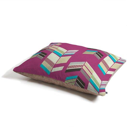 DENY Designs Gabi Chevron Berry Rectangle Pet Bed