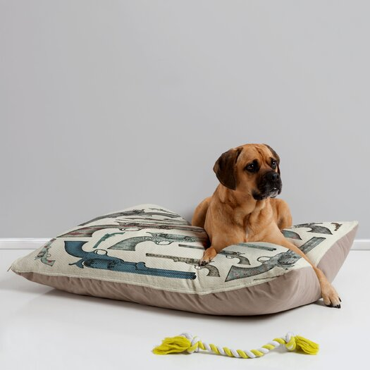 DENY Designs Belle13 Vintage Pistols Pet Bed