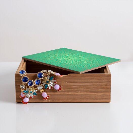 DENY Designs Jacqueline Maldonado Radiate Teal Gold Box