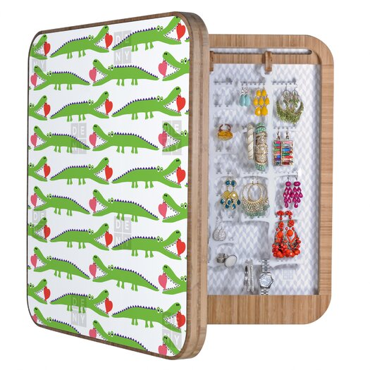 DENY Designs Andi Bird Alligator Love Jewelry Box