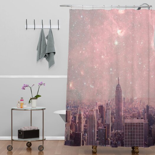 DENY Designs Bianca Green Stardust Covering New York Shower Curtain