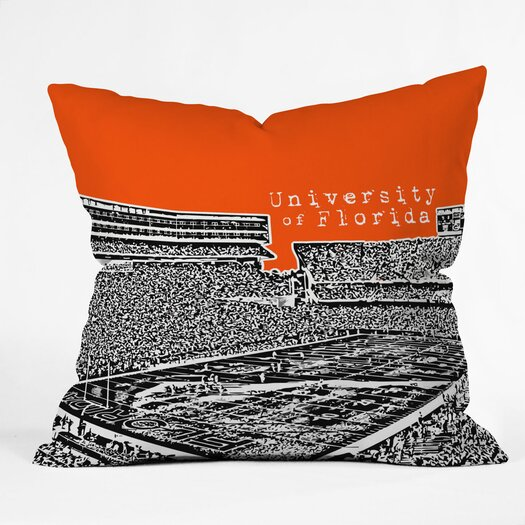 DENY Designs Bird Ave University of Florida Woven Polyester Throw Pillow