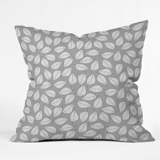 DENY Designs Bianca Green Leafy Indoor/Outdoor Polyester Throw Pillow