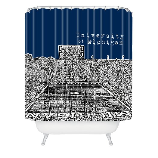 DENY Designs Bird Ave Woven Polyester University of Michigan Shower Curtain