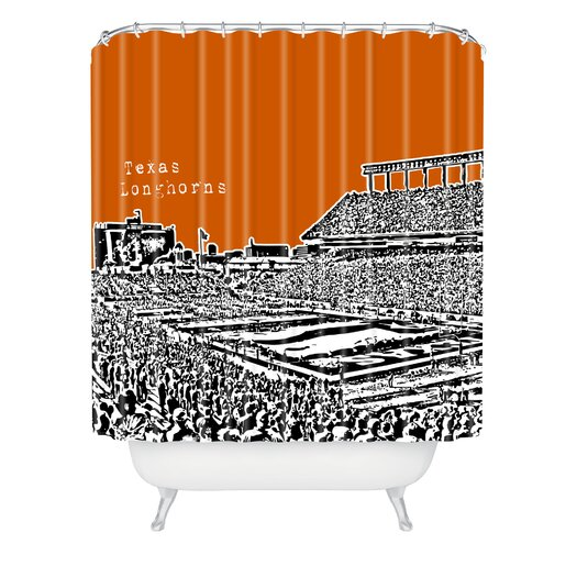 DENY Designs Bird Ave Woven Polyester Texas Longhorns Shower Curtain
