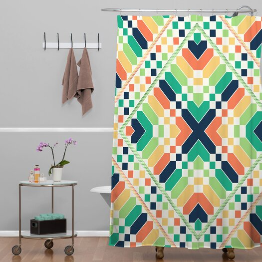 DENY Designs Budi Kwan Retrographic Rainbow Shower Curtain