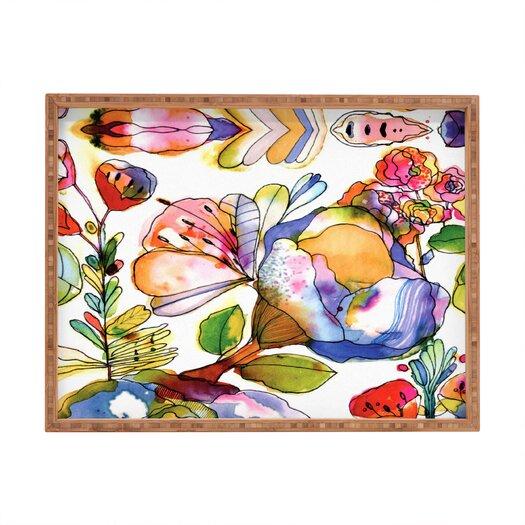 DENY Designs CayenaBlanca Blossom Pastel Rectangular Tray