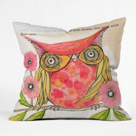 DENY Designs Cori Dantini Miss Goldie Indoor / Outdoor Polyester Throw Pillow