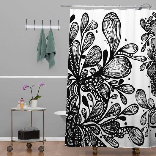 DENY Designs Julia Da Rocha Wild Leaves Shower Curtain