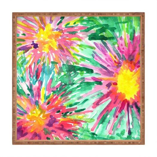 DENY Designs Joy Laforme Floral Confetti Square Tray