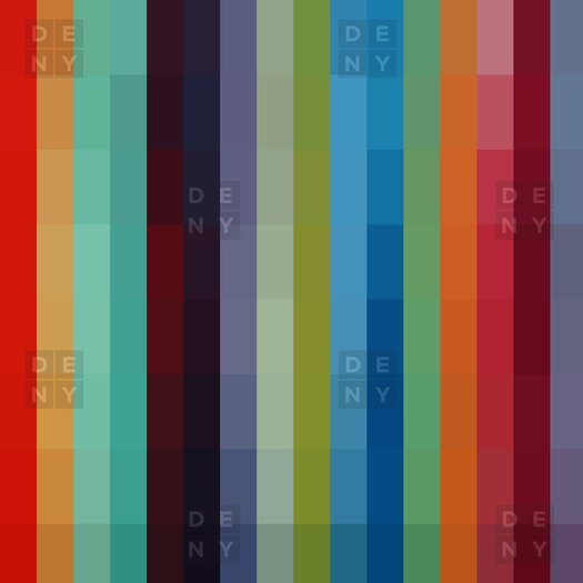 DENY Designs Madart Inc Woven Polyester City Colors Shower Curtain