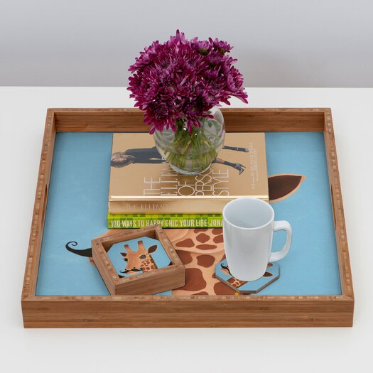 DENY Designs Mandy Hazell Gentleman Giraffe Coaster