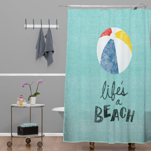 DENY Designs Nick Nelson Lifes A Beach Shower Curtain