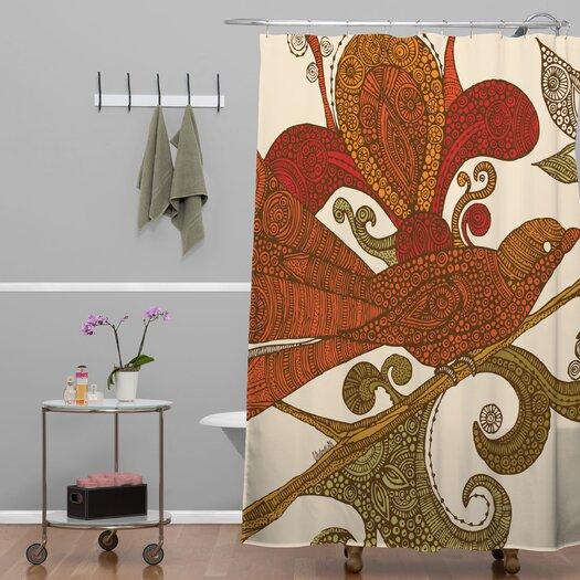 DENY Designs Valentina Ramos Woven Polyester Bird Shower Curtain