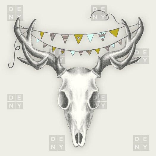 DENY Designs Wesley Bird Polyester Skull Shower Curtain