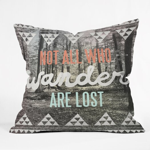 DENY Designs Wesley Bird Wander Indoor/Outdoor Polyester Throw Pillow