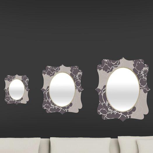 DENY Designs Caroline Okun Winter Peony Quatrefoil Mirror