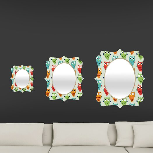 DENY Designs Andi Bird Owl Fun Quatrefoil Mirror