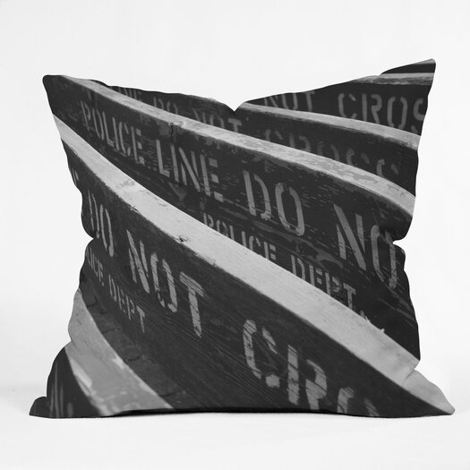 DENY Designs Leonidas Oxby 7 Chances Do Ya Feel Lucky Woven Polyester Throw Pillow