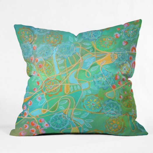 DENY Designs Stephanie Corfee Secret Garden Throw Pillow