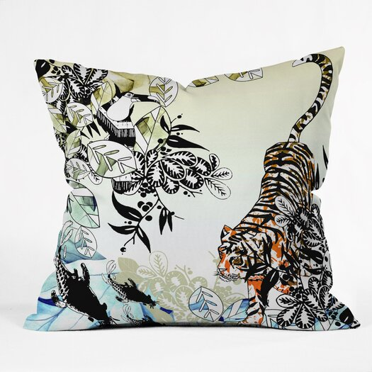 DENY Designs Aimee St Hill Tiger Tiger Throw Pillow