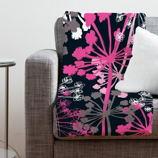 DENY Designs Rachael Taylor Cow Parsley Polyester Fleece Throw Blanket