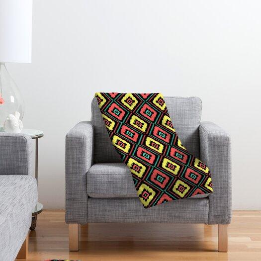 DENY Designs Jacqueline Maldonado Zig Zag Ikat Polyester Fleece Throw Blanket