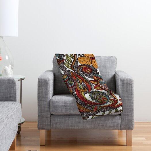DENY Designs Valentina Ramos Paradise Bird Polyester Fleece Throw Blanket