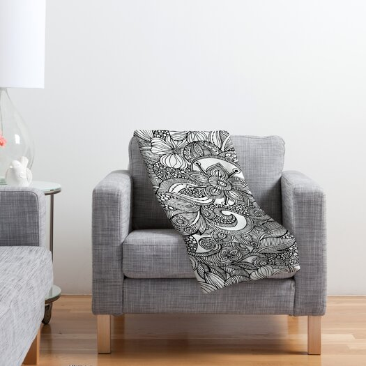 DENY Designs Valentina Ramos Doodles Polyester Fleece Throw Blanket