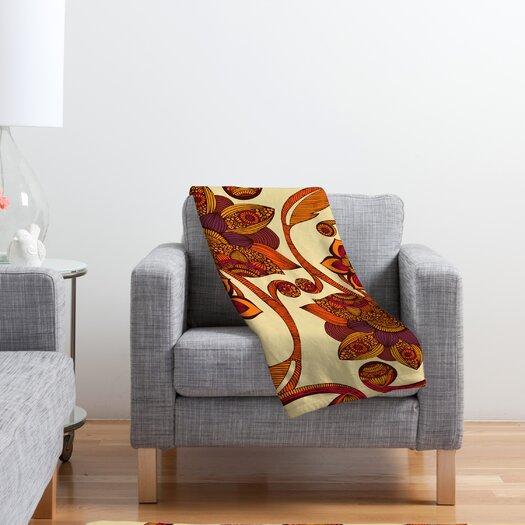 DENY Designs Valentina Ramos Boho Flowers Polyester Fleece Throw Blanket