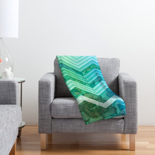 DENY Designs Gabi Azul Polyester Fleece Throw Blanket