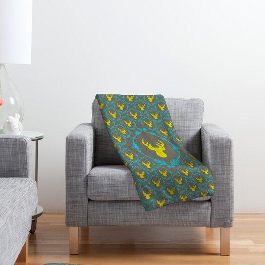 DENY Designs Bianca Green Oh Deer 3 Polyester Fleece Throw Blanket