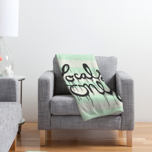 DENY Designs Wesley Bird Locals Only Polyester Fleece Throw Blanket