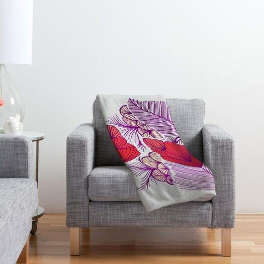 DENY Designs Gabi Sea Leaves Polyester Fleece Throw Blanket