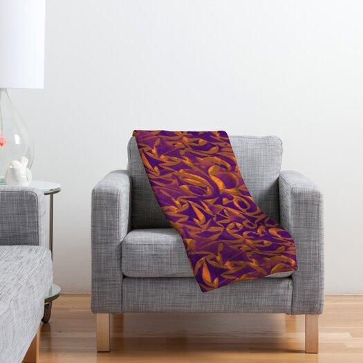 DENY Designs Wagner Campelo Abstract Garden Polyester Fleece Throw Blanket