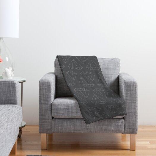 DENY Designs Wesley Bird Diamond Print Polyester Fleece Throw Blanket