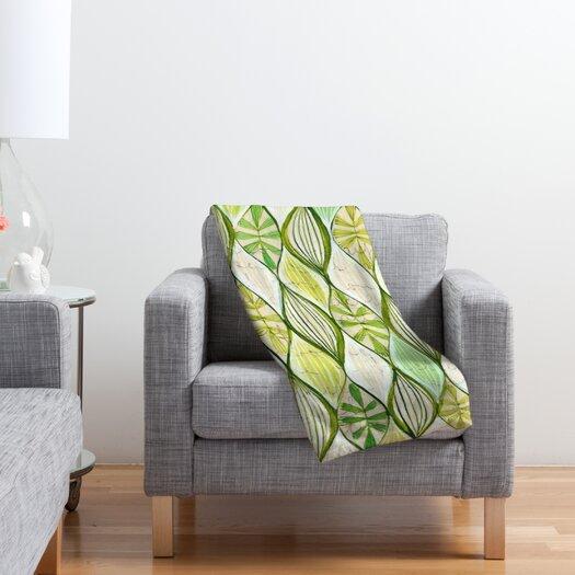 DENY Designs Cori Dantini Green Polyester Fleece Throw Blanket