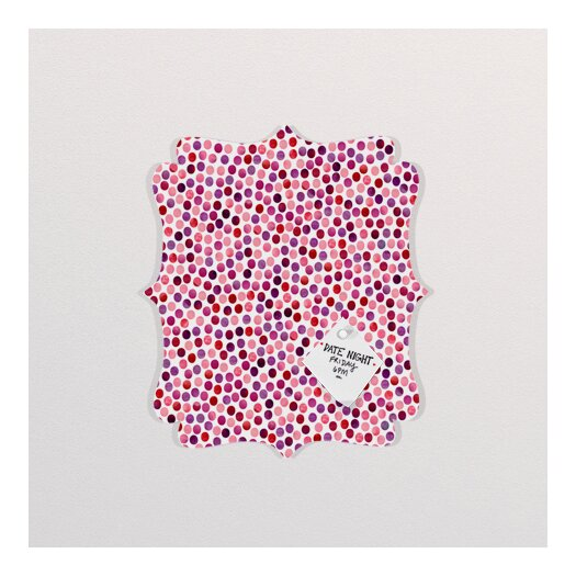DENY Designs Garima Dhawan Dots Watercolor Dots Berry Quatrefoil Memo Board