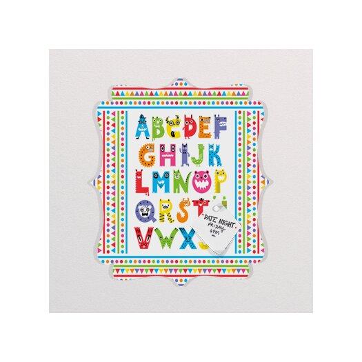 DENY Designs Andi Bird Alphabet Monsters Quatrefoil Memo Board