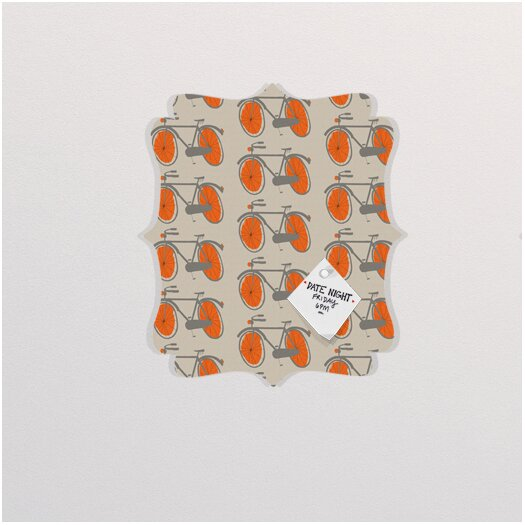 DENY Designs Mummysam Bicycles Quatrefoil Memo Board
