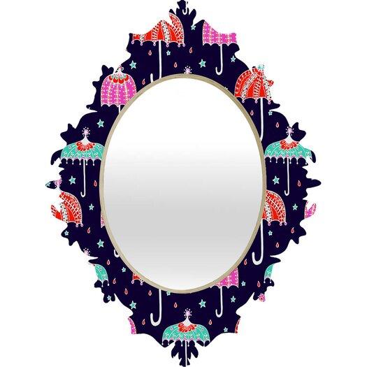 DENY Designs Rebekah Ginda Design Night Shower Baroque Mirror